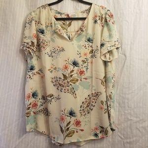DR2 xl beautiful floral blouse